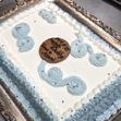 ウエディングケーキ4、ブルーの画像1