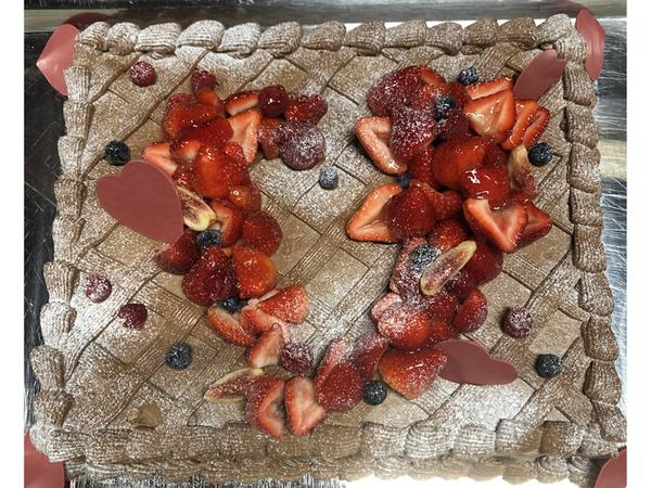 ウエディングケーキ 3 チョコレート