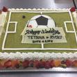 ウエディングケーキ 11、サッカーの画像1