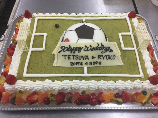 ウエディングケーキ 11、サッカー