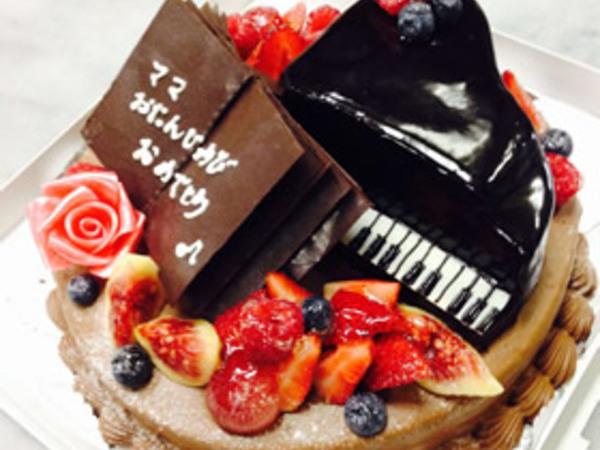 立体ケーキ6、ピアノ