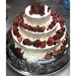 ウエディングケーキ 8、3段 いちごの画像3