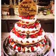 ウエディングケーキ 8、3段 いちごの画像2