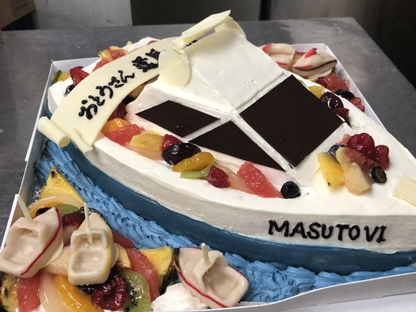 立体ケーキ4、船