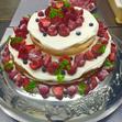 ウエディングケーキ 8、3段 いちごの画像1