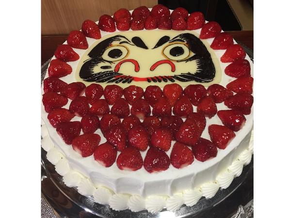 その他の特注ケーキ4、だるま