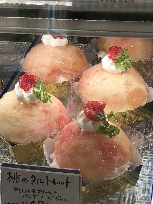 桃のタルトが美味しいです!ー福岡ケーキ