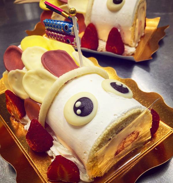 子供の日こいのぼりのロールケーキ